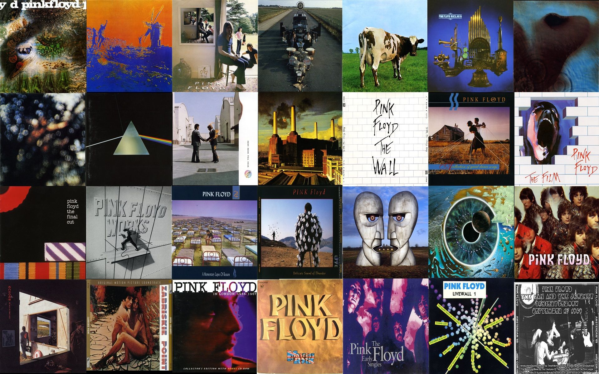 Pink Floyd Album Covers Rock