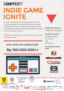 [CompFest7] Indie Game Ignite Launching